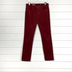 AG Adriano Goldschmied Stevie Corduroy Pants Red